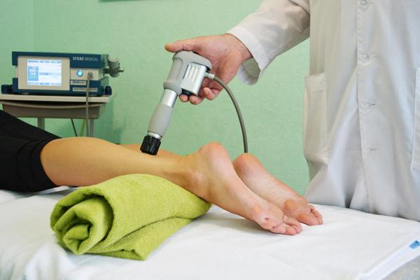 Кальцинирующий тендинит ахиллового сухожилия. Процедура ударно-волновой терапии.