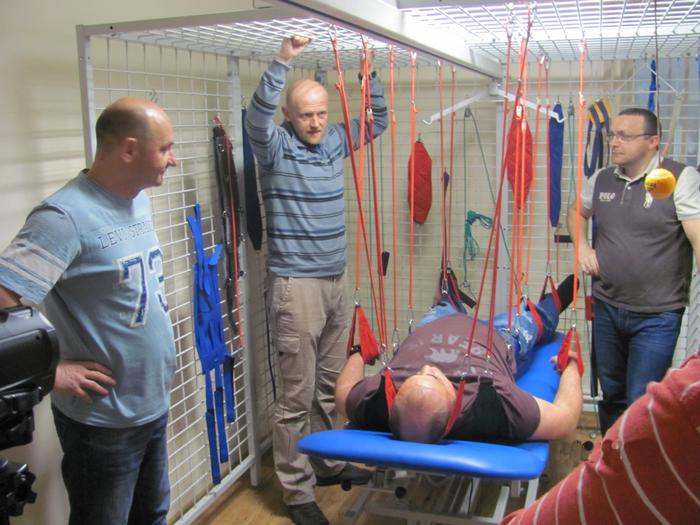 Подготовка к проведению подвесной терапии.