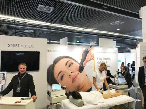Стенд Storz Medical на Всемирном конгрессе IMCAS в Париже.
